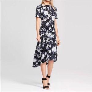 EUC Who What Wear Asymmetrical Floral Dress